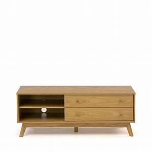 Meuble Tv Bois Design : meuble tv design bois massif kensal ~ Preciouscoupons.com Idées de Décoration