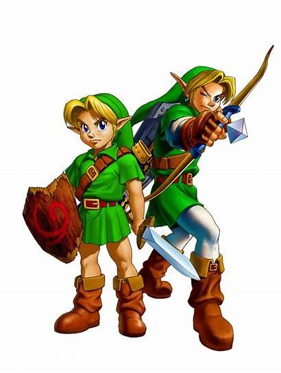 Link Young Legend Zelda Ocarina Adult Characters