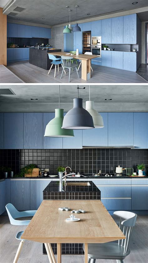 light blue kitchen accessories kitchen color inspiration 12 shades of blue cabinets 6958