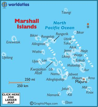 Marshall Islands Map / Geography of the Marshall Islands ...