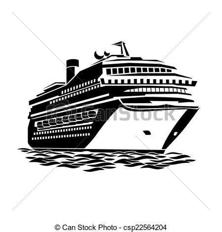 big cruise liner stylized illustration   large cruise