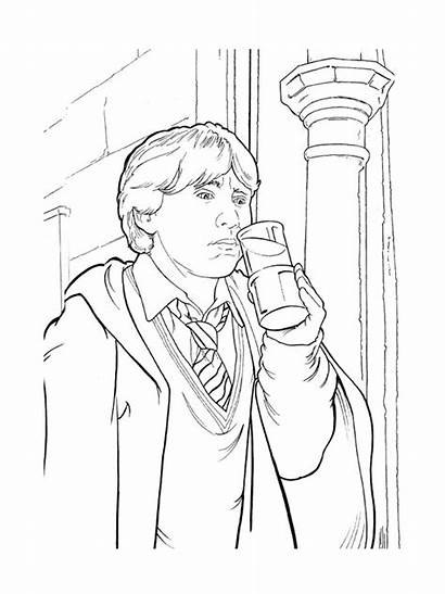 Ron Weasley Potter Harry Coloring Pages Coloriage