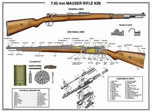 Poster 18 U0026quot X24 U0026quot  Mauser K98 Rifle Manual Exploded Parts