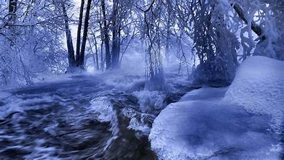 Nature Winter River Wallpapers Scenes Forest Scenery