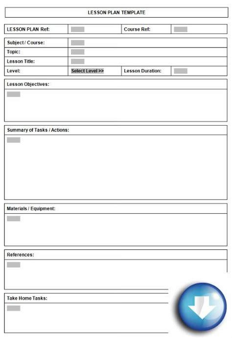 lesson plan template printable plan  organised