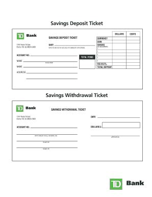 blank withdrawal slip deposit template forms and templates fillable forms