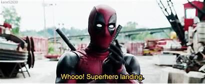 Deadpool Gifs Landing Superhero Marvel Wukong Sun