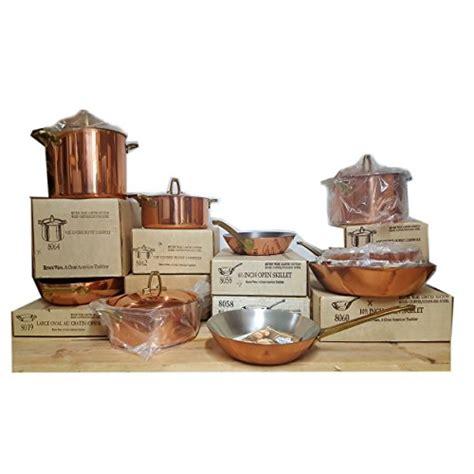 vintage  paul revere ware limited edition gourmet copper cookware set   nokomis