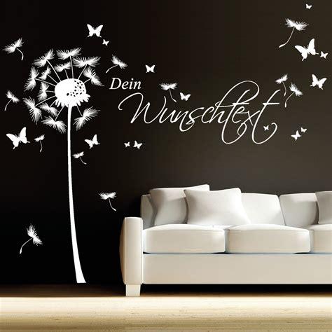 Wandtattoo Kinderzimmer Sprüche by Pusteblume Schmetterling Mit Wunschtext Wandtattoo Loft
