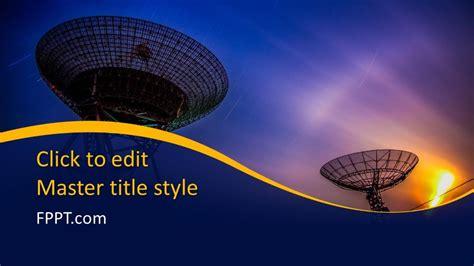Free Satellite Communication PowerPoint Template - Free ...