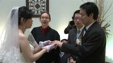 simple ring exchange vows chinese wedding ceremony video