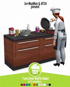 Around The Sims 4: Functional muffin maker • Sims 4 Downloads