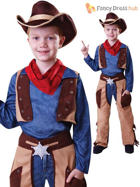 Kids Cowboy Cowgirl Boys Girls Fancy Dress Costume Wild Western Book Week Outfit | eBay