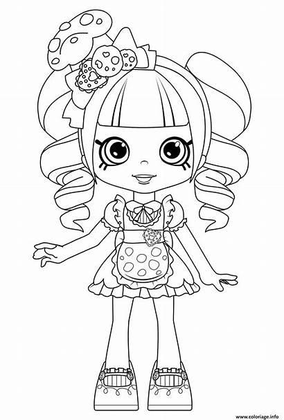 Coloring Shopkins Dolls Shoppies Pages Shoppie Cookie