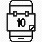 Mobile Calendar Icon App Phone Event Date