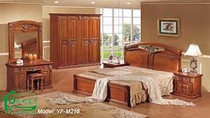 meubles chambres coucher dcoration chambre coucher de With meuble de salle a manger avec lit en bois