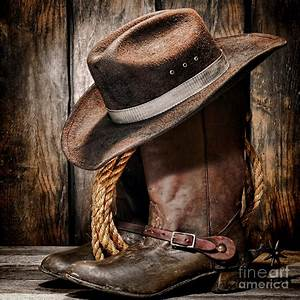 Vintage Cowboy Boots And Hat Photograph by American West ...