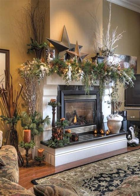 decorating a mantel for christmas a whole bunch of christmas mantels 2013 style estate