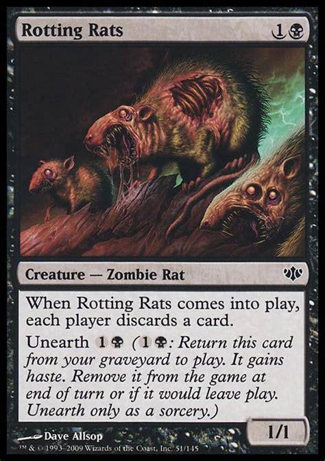 Rat Deck Mtg Edh by Rotting Rats Con Mtg Card