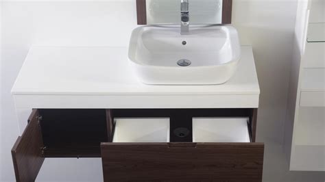 meilleur meuble salle de bain pour vasque 224 poser 60 sur carrelage au sol de salle de bains