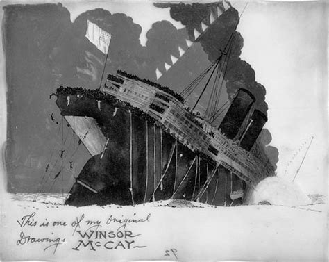 sinking of the lusitania drawing