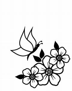 Spring Flowers Clipart Black And White | Free download ...