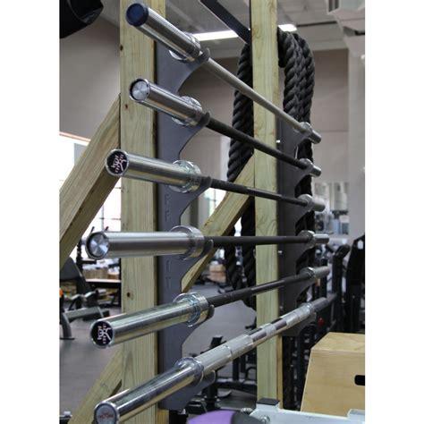 cff wall mounted olympic bar storage rack
