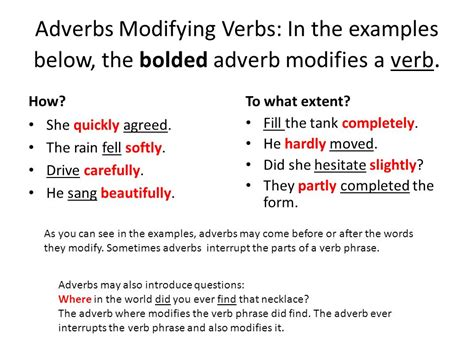 Modified Adjectives And Adverbs by From Warriner S Handbook Pages Ppt