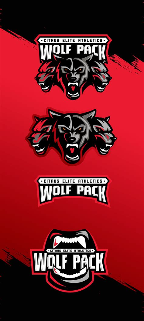 Wolf pack. Logo for sports training center in US on Behance