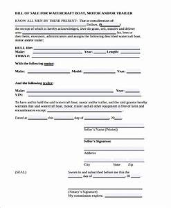 Rv Bill Of Sale Form Free 9 Trailer Bill Of Sale Samples In Ms Word Pdf