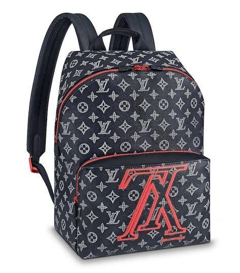 louis vuitton apollo upside  reverse lv ink logo shoulder blue canvas backpack tradesy