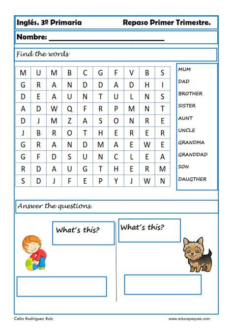ejercicios de inglés tercero primaria10