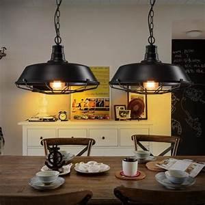 Suspension Luminaire Industriel : suspension r tro vintage lustre plafonnier lampe luminaire industriel noir achat vente ~ Teatrodelosmanantiales.com Idées de Décoration