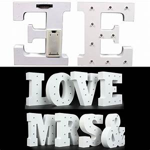 63939 vintage white large wooden block freestanding alphabet With light up block letters