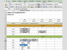 Schedule Template – 39+ Free Word, Excel, PDF Format
