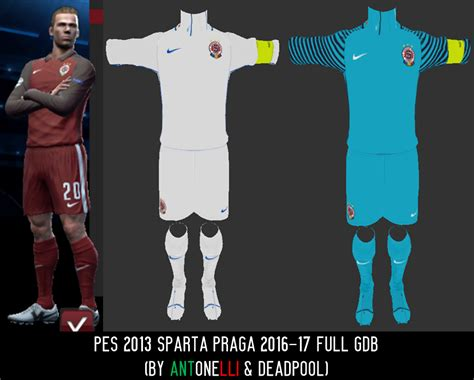 pes modif pes 2013 sparta prague 2016 17 gdb by antonelli deadpool