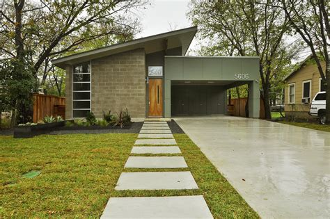 Master Bathroom Ideas Mid Century Modern Design Ideas Exterior Midcentury With Carport Cinder Block Driveway