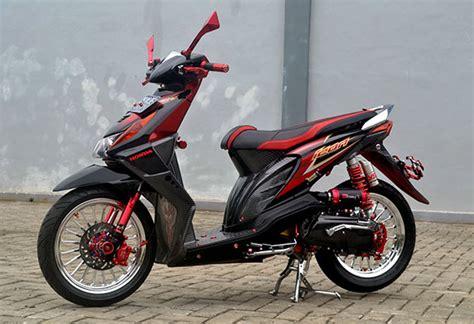 Foto Modifikasi Honda Beat Fi Hitam Paling Keren Dan Trendi
