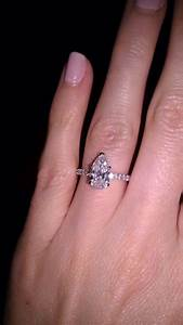 pear shaped ring anyone weddingbee boards i39ll take With pear shaped engagement ring and wedding band