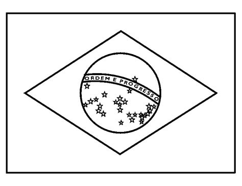Brazilie Vlag Kleurplaat brazili 235 kleurplaten vlag brazilie