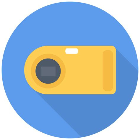 point shoot camera icon  flat multimedia iconset