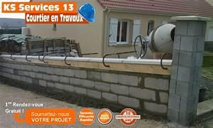 Prix Mur Parpaing Cloture : monter un mur de cloture en parpaing ~ Dailycaller-alerts.com Idées de Décoration