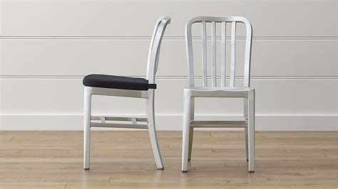 delta metal dining chair and cushion crate and barrel