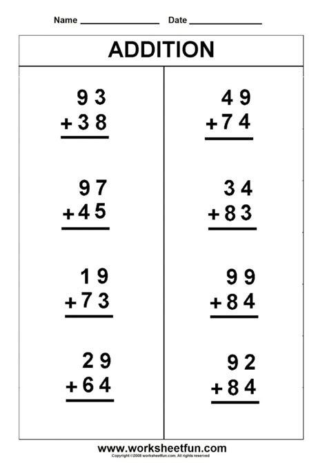 grade math worksheet addition math sheets worksheet mogenk paper works