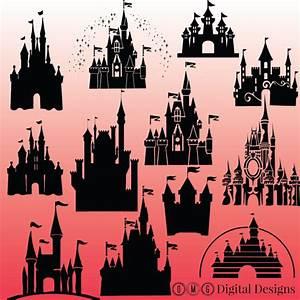 12 cinderella castle silhouette cinderella castle Clipart
