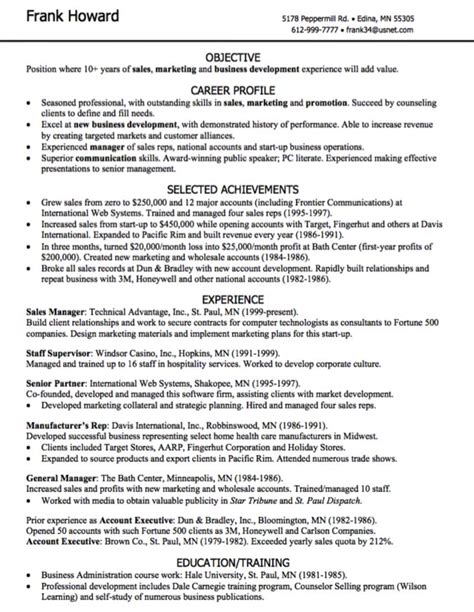 Resume Blurb Sles 17 best ideas about marketing resume on best