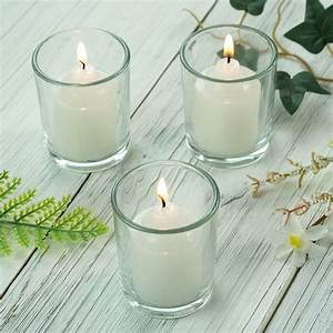 Efavormart, Set, Of, 12, 2, 5, U0026quot, Clear, Glass, Votive, Candle, Holders, For, Candle, Making, Kit, Tealight