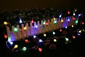 Guirlande Lumineuse Jardin : gledto 4m led guirlande lumineuse petits boules multicolore d coration romantique pour f te no l ~ Melissatoandfro.com Idées de Décoration