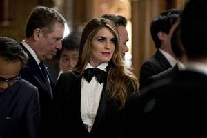 Hope Hicks wears a tuxedo to Japan state dinner
