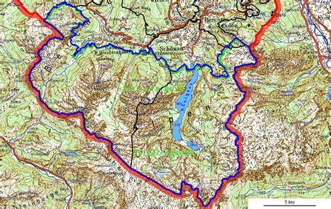 Nationalpark Berchtesgaden Karte